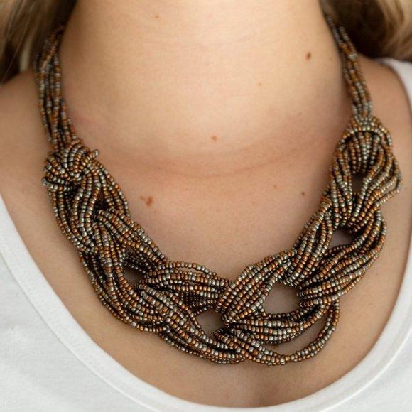City Catwalk Copper Necklace